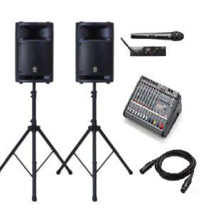 Комплект звукового оборудования для выставки